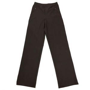 Lucy TALL Stretch Brown Zipper Hem Yoga Pant